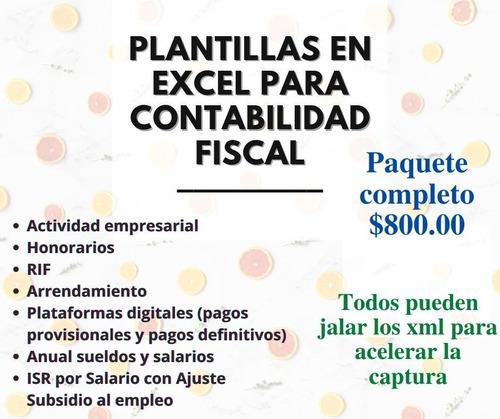 Imagen 1 de 1 de Plantillas En Excel Para Contabilidad Fiscal