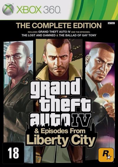 Frete 10$ Gta Iv Complete Liberty City 4 Xbox One 360 Física