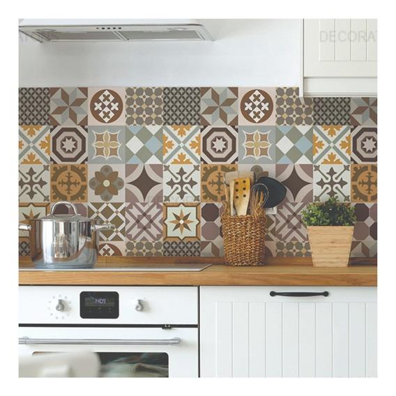 Papel De Parede Para Cozinha Azulejo Português Lavável
