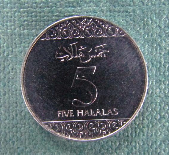 Arabia Saudita Moneda 5 Halala Niquel Unc 2016