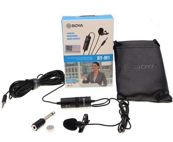 Microfone De Lapela Boya By-m1 Para Câmeras E Smartphones