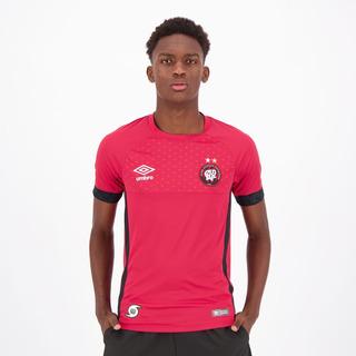 Camisa Umbro Atlético Paranaense Goleiro 2018 Vermelha