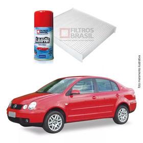Kit Filtro Ar Condicionado Higienizador Vw Polo Sedan 02/05