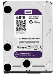 Hd Dvr Interno 4tb Western Digital Purple 64mb Wd40purz Full