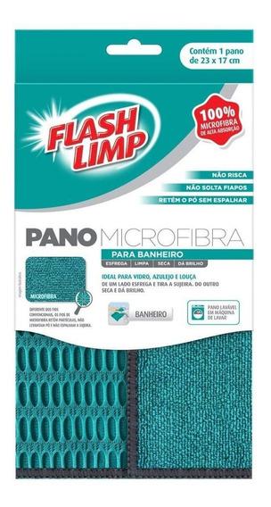 Pano Microfibra Para Banheiro Flash Limp Flp6711