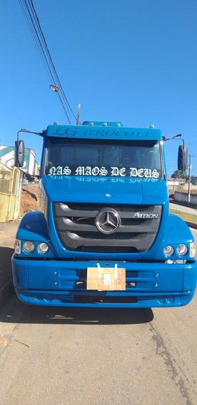 Mercedes Benz Atron 1319 Ano 2014 Azul No Chassi