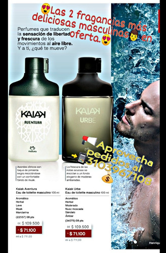 Perfume Kaiak Masculino Natura - Ml A $ - mL a $680