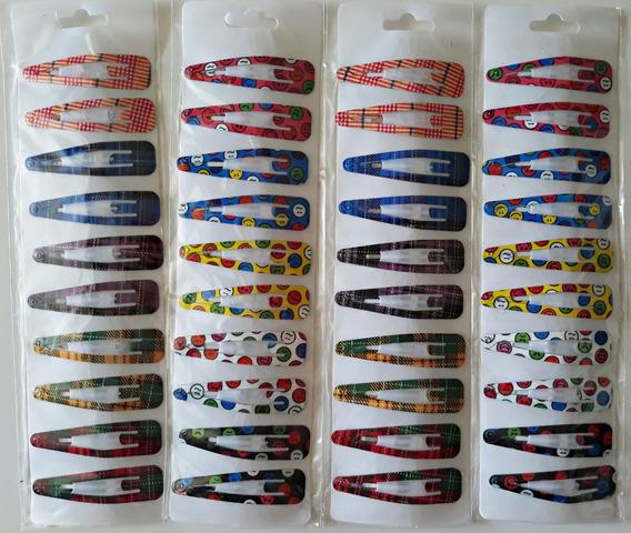 Kit Revenda 40 Presilhas Tic Tac Com Estampa Coloridas