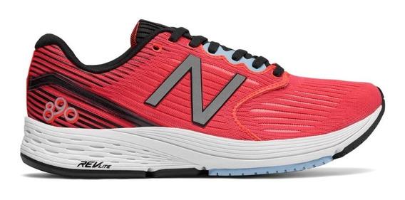 Zapatillas Running New Balance 890v6 Mujer Deportivas Rojo