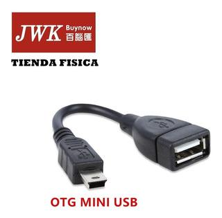 Cable Adaptador Otg Mini Usb ,cel Tablet Teclado Jwk