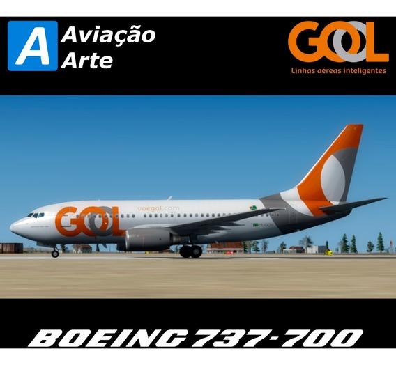 Aeronave Fsx/fs9/p3d - Frota Gol - Boeing 737-700