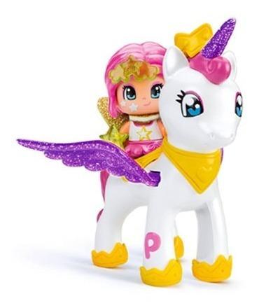 Muñeca Pinypon Hada Y Unicornio Princesa 32 Accesorios Rosa