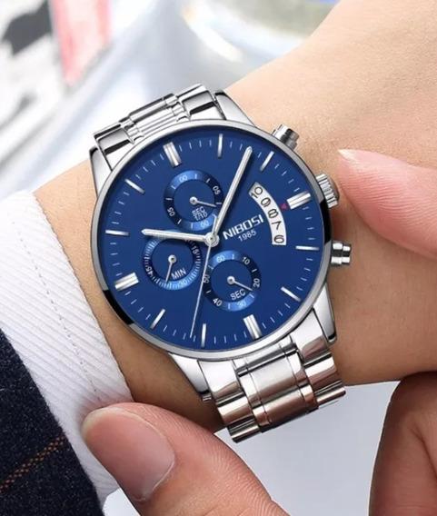 Relógio Nibosi 2309 Original A Pronta Entrega Barato