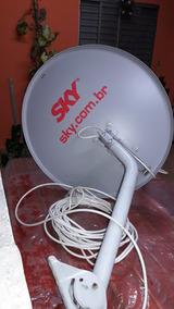 Antena Sky Com Lnb E 11 Metros De Fio