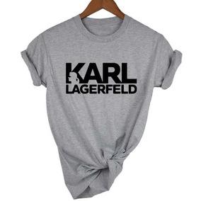 Camiseta Baby Look Feminina Karl Lagerfeld Moda De Roupas !!