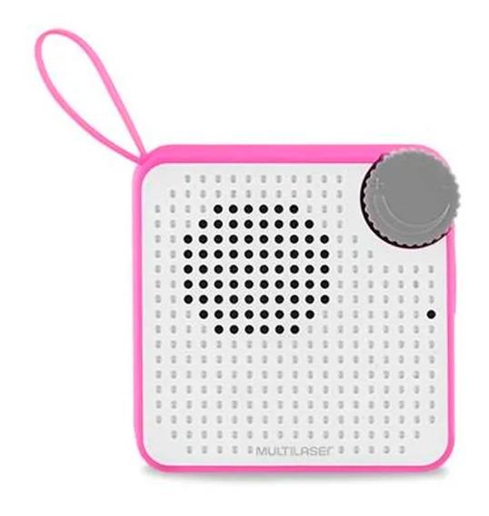 Caixa De Som Mini 5w Bt Rosa - Sp311