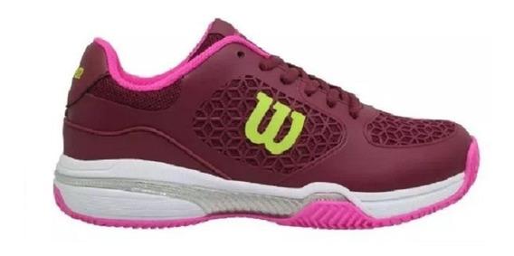 Zapatillas Wilson Tenis Match Mujer Clay 2018 Rosa