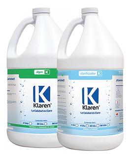 Algicida Algen Elimina Algas Y Clarificador Klaren De 4 Lts