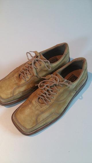 Sapato Masculino Di Pollini Em Couro Tam. 38 Cor Mostarda