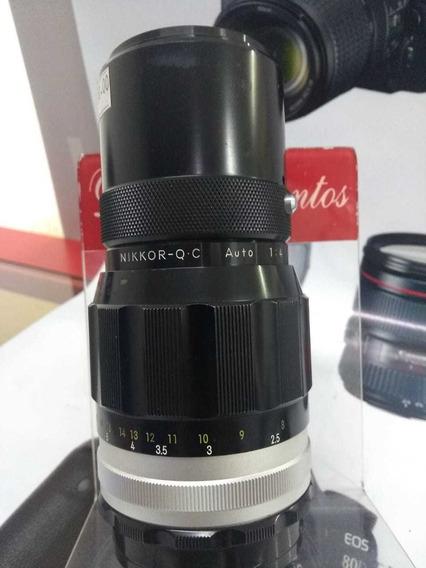 Objetiva Mecânico Nikon 200 Mm
