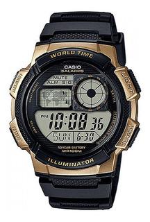 Reloj Hombre Casio Ae-1000w Dorado Digital / Lhua Store