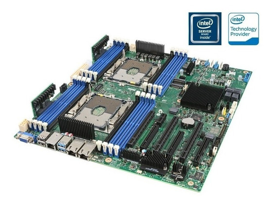 Placa Mãe Servidor Intel Dual Xeon Ddr4 Lga3647.