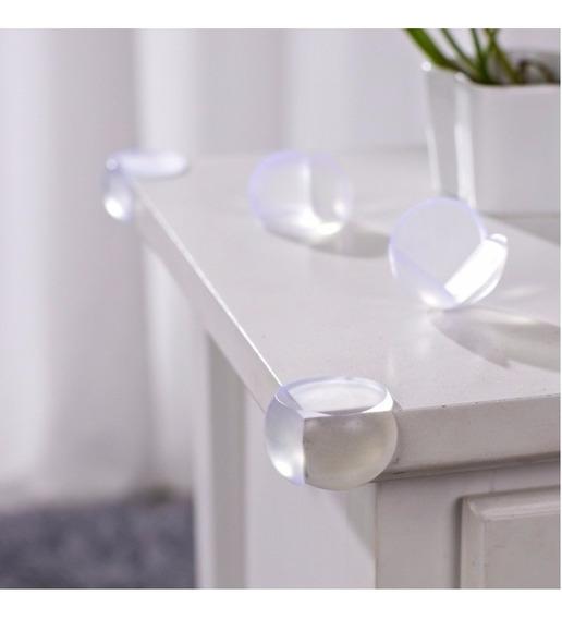 Protetor Canto Moveis Mesa Silicone Transparent Kit 4 Peça R
