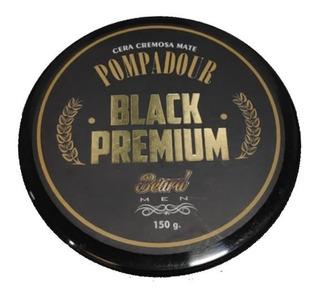 Cera Beard Pompadour Black Premium Pomada Cabello Mate 150g
