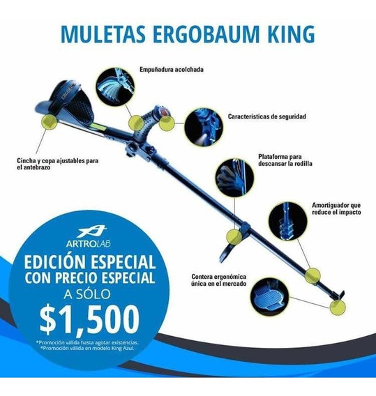 Muletas Ergobaum King Azul Modelo Especial