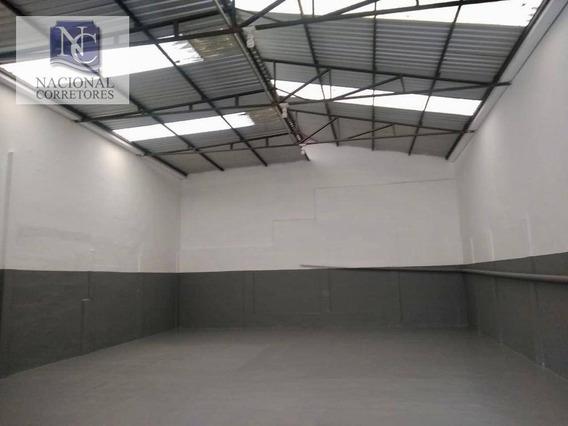 Galpão Para Alugar, 250 M² Por R$ 4.500,00/mês - Casa Grande - Diadema/sp - Ga0762