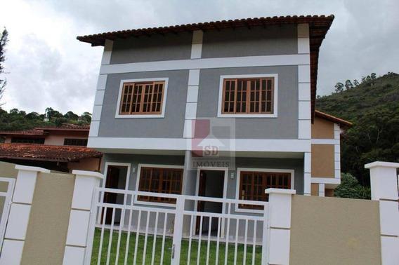 Casa Nova Com 2 Dormitórios Para Alugar, 60 M² Por R$ 1.300/mês - Parque Do Imbui - Teresópolis/rj - Ca0902