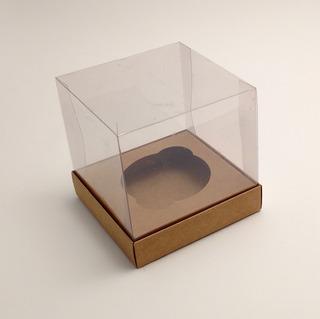 10 Caixas 1 Cupcake - Tampa De Acetato - 9x9x9 Cm