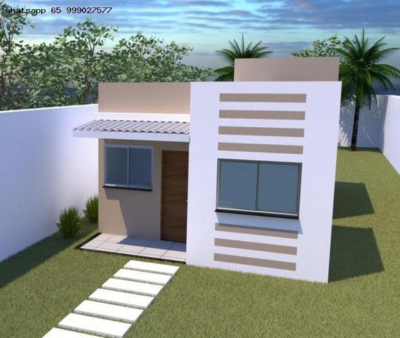 Casa Para Venda Em Várzea Grande, Novo Mundo, 2 Dormitórios, 1 Banheiro, 2 Vagas - 374_1-1345653