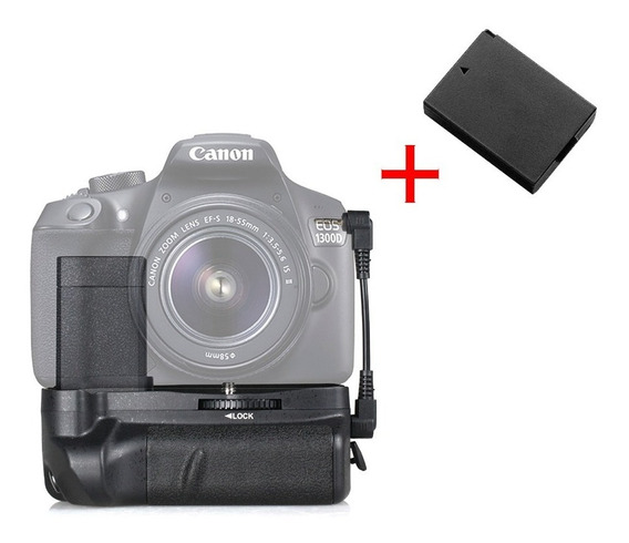 Battery Grip Para Canon T3, T5, T6 + Bateria Extra