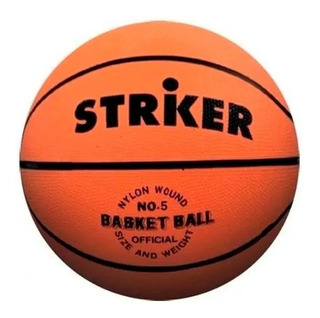 Pelota Basket Basquet N°3 Striker Basket Mini Premini Goma