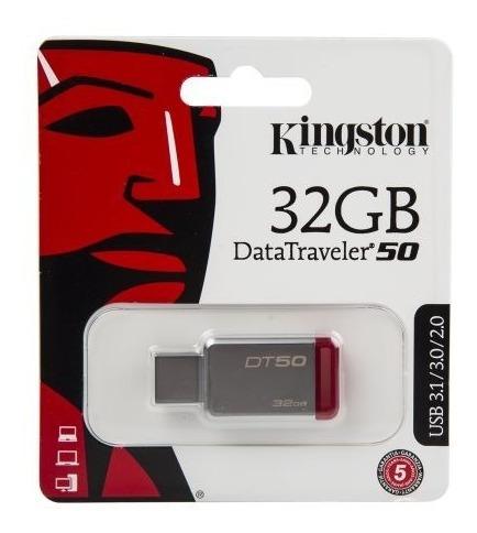Kit 5 Pen Drive Kingston 32gb Usb 3.1 Dt50 Datatraveler 50