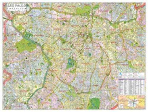 Imagem 1 de 1 de Mapa Cidade De Sao Paulo Turistico Dobr.