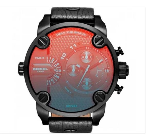 Relógio Analógico Cores Preta E Vermelha - Diesel Dz7334/0pn