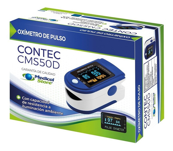 Oximetro De Pulso Adulto Pediatrico Medico De Lujo Ms Contec