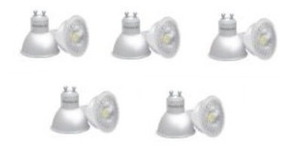 Dicroica Led X 7 Unid Lamparas Leds 7w = 50w Buena Calidad