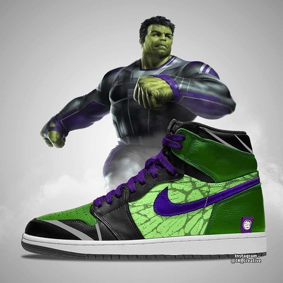 Tenis Jordan Retro 1 Hulk Avengers