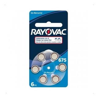 Pilas Rayovac 675 Para Aparatos Auditivos X 6 Pilas