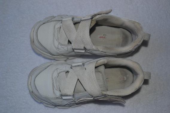 Zapatillas Skechers Con Abrojo- Niños - Cuero- Escolar