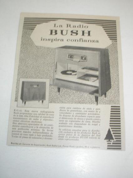 ( L - 290/ Ge ) Propaganda Antiga Rádio Gramofone Bush