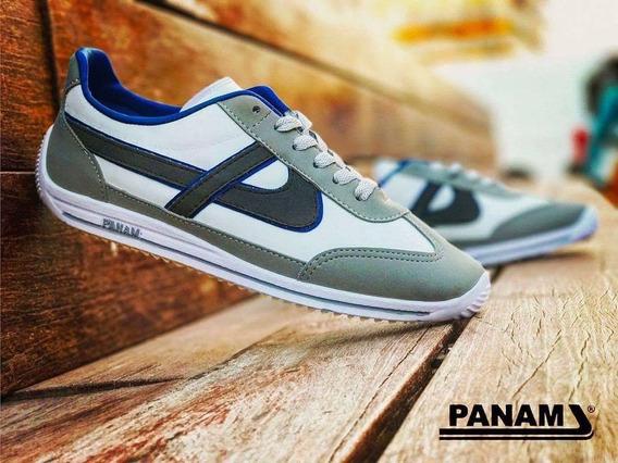 Panam Clásico Edición Especial Blanco Azul Tallas 22 - 26
