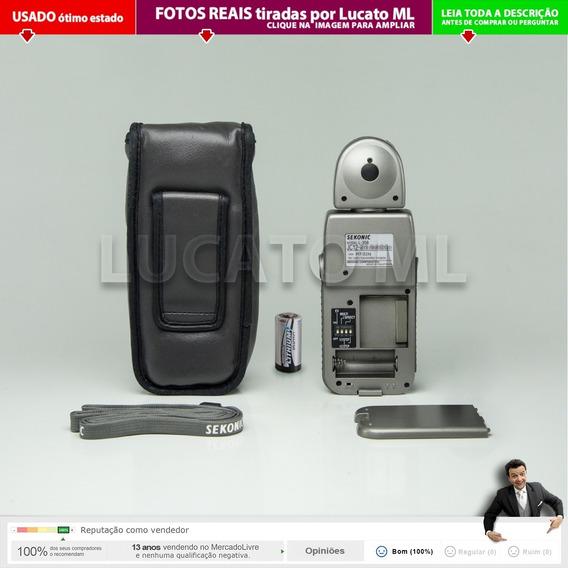 Fotometro Sekonic L358 Flash Master + Capa Alça Pilha | 2b