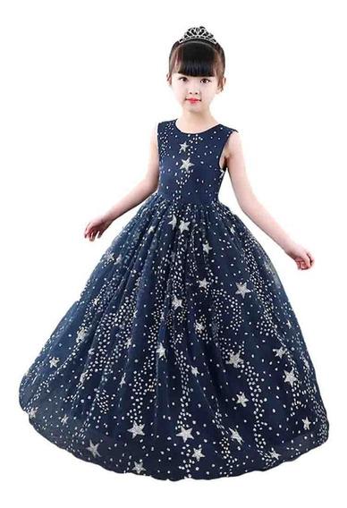 Vestido Niña Fiesta Cumpleaños / Tul /diseño Estrellas