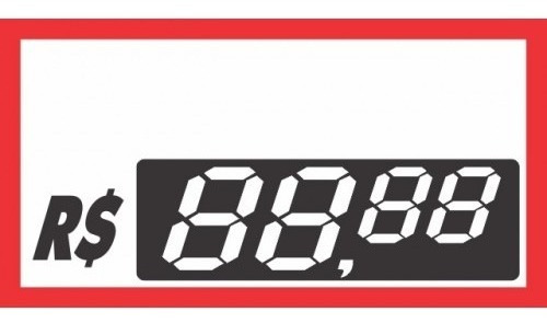 Etiquetas De Pvc 70 Mm X 37 Mm  Com 500 Unidades
