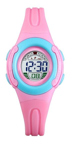 Relógio Infantil Skmei Digital 1479 Rosa E Azul