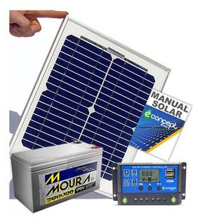 Pantalla Solar 20 Watt + Regulador 10 A + Bateria 7 Amp Kit
